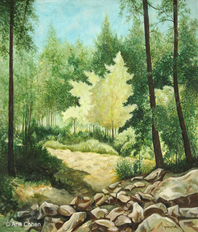 Trees - Oil by Arie Cohen LR