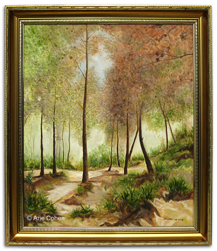 Trees-on-the-Carmel - Oil-by-Arie-Cohen-LR